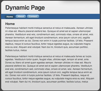 Dynamic Page / Replacing Content