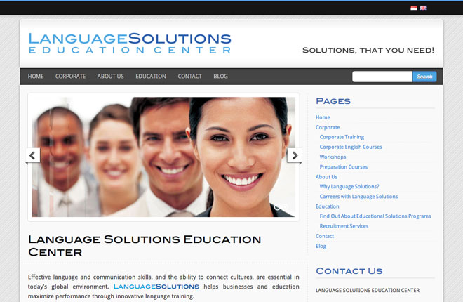 language solutions web design
