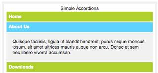 Simple Javascript Accordions