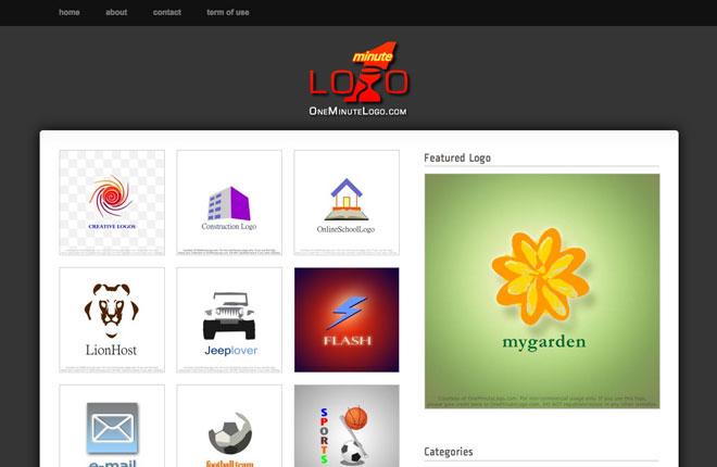oneminutelogo web design